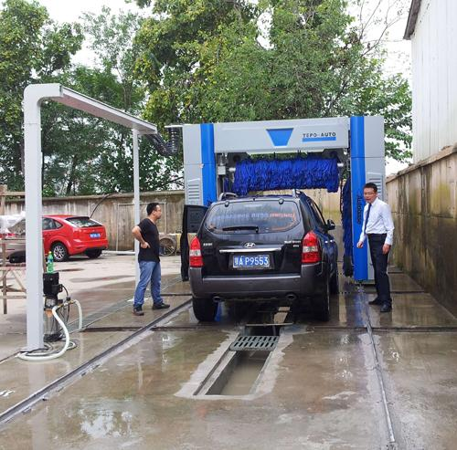 Automatic Tunnel Car Wash System which can wash 400-500 cars per day