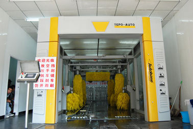 China Fully Automated Car Wash Tunnel Systems Wash Speed 60-80 Cars / Hour supplier