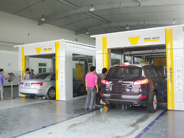 China TEPO - AUTO Car Wash Tunnel Equipment , Advanced Automated Car Wash Systems supplier