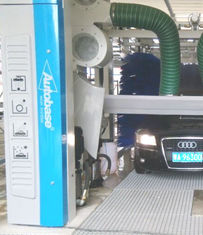 China Automatic tunnel car wash equipment with spinning car wash brush supplier