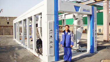 China Blue Brush Tunnel Car Washing Equipment For Washing 60 - 80 Vehicles Per Hour supplier