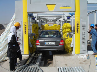 China Steel Tunnel Car Washing Machine , TEPO-AUTO Automatic Car Washer supplier