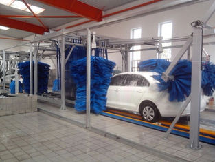 China Tunnel Car Wash Systems With Three Color Wax Spraying , Innovation Mode supplier