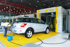 China Yellow Tunnel Car Wash System Brushed With Pneumatic Control System factory