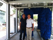 China Security Stability Tunnel Car Wash System Professional With Blue Brush factory