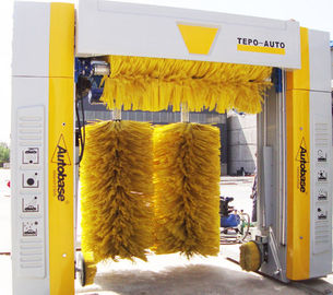 Energy-saving Car Wash System TEPO-AUTO With Yellow Big-Diameter Wheel Brush