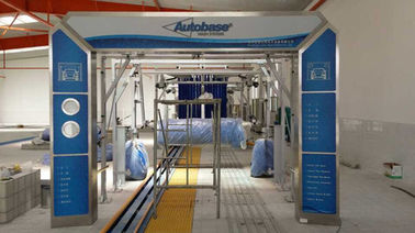 Autobase Tunnel Car Wash Systems Machine , Swing Arm Top Brush And Bumper Cleaning