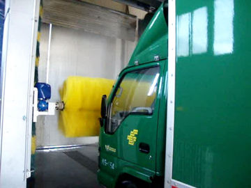 Automatic rollover bus wash machine